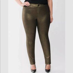 Lane Bryant Metallic Ponte Stretch Pants